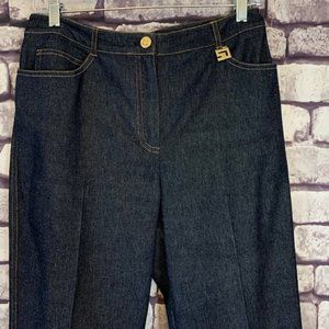 St. John Sport By Marie Gray Denim Pants Size 6